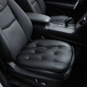 Car Seat Cover Pu Leather Seat Cushion Pad Mat For Auto Chair Waterproof Black