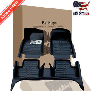 Car Floor Mats carpets For Nissan Rogue 2014 2019 All Weather Wateproof Protect
