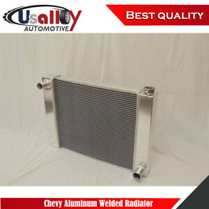 Suit Universal Sbc Bbc Chevy 2 Row Fabricated Aluminum Radiator 25 X 19 X 3 Inch