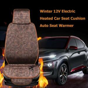 2pcs Car Seat Electric Chair Cushion Massage Back Body Heated Winter Cover Pad