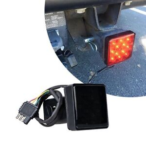 2 Trailer Truck Hitch Towing Receiver Cover 15 Led Brake Light Cover W Pin