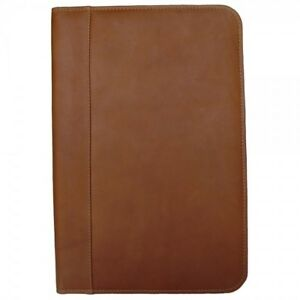 Piel Leather Legal Size Portfolio Note Pad Holder Organizer Saddle