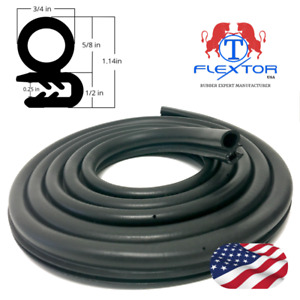 13 Feet Large Size Rubber Car Door Seal Weatherstrip Body Mounted