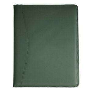 Royce Leather Padfolio Note Pad Holder Green