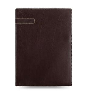 Filofax Holborn A4 Folio Leather Note Pad Holder Brown