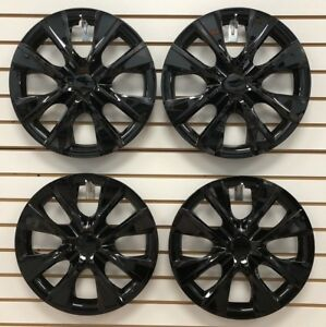 Set Of 4 New 15 Black Hubcap Wheelcover That Fits 2009 2018 Toyota Corolla
