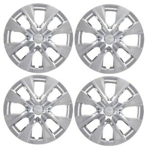 Set Of 4 New 15 Chrome Hubcap Wheelcover That Fits 2009 2018 Toyota Corolla