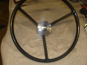 1957 1958 Ford Nos Steering Wheel And Horn Button