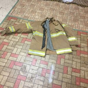 Firefighter Gear Turnout Jacket Lion Apparel Janesville 4232 Use Or Costume