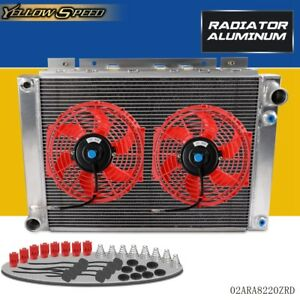 For 1964 1966 1965 Ford Thunderbird All Aluminum Radiator 2 Pcs 10 Fan