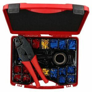 552pc Electricians Electrical Insulated Ratcheting Crimping Tool Terminal Set