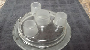Pyrex 4 neck Reaction Vessel Head lid 6 5 Flat Flange