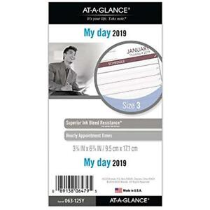 At a glance Planner Refills 2019 Daily Refill Day Runner 3 3 4 X 6 3 4 Size