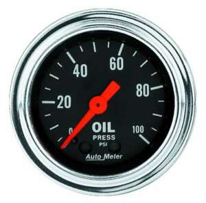 Auto Meter 2421 Gauge Oil Pressure 2 1 16 Mechanical Traditional Chrome