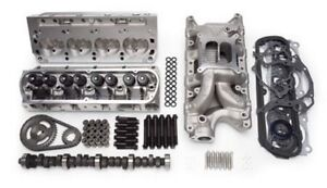 Edelbrock 2027 Ford Top End Kit E street Performer Sbf 302 Aluminum Heads Intake
