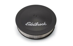 Edelbrock 1223 Black Air Cleaner Proflo Series Round 14 Sbc Bbc Sbf Chevy Ford
