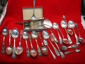 Norwegian 830 Silver Flatware Large Lot With Some Unusual Pieces