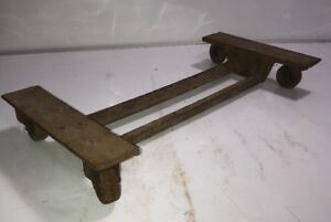 Furniture Dolly Cart Crate Box Bottom Vintage Metal Furniture Mover Steampunk