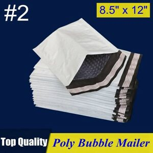 2 8 5x12 Poly Bubble Mailer Padded Envelope Shipping Bag 8 5 x12 25 50 100 Pcs