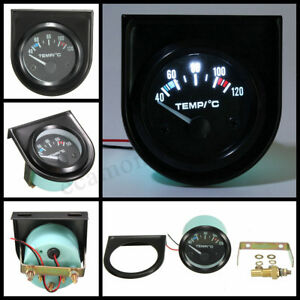 2 52mm Universal Electric Car Led Pointer Water Temperature Temp Gauge 40 120