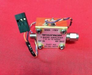 Wiltron 60 nd 19072 X band Amplifier 7 9 12 5ghz
