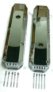 Small Block Plymouth Mopar Chrysler Fabricated Chrome Valve Covers 318 340 360