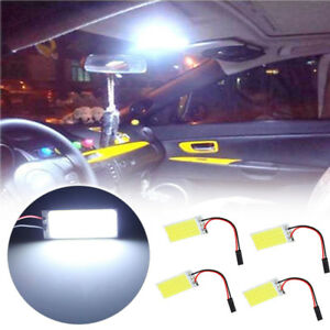 4x White 36 Cob Led Panel Hid Bulb Best Car Vehicle Interior Light For Chevrolet