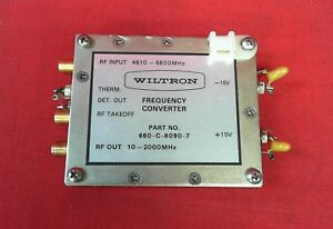 Wiltron 660 c 8090 7 Frequency Converter 10 2000mhz