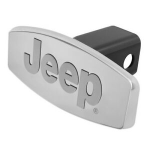 1x Pilot Automotive Jeep Logo 1 25 2 Stainless Steel Tow Receiver Hitch Cover