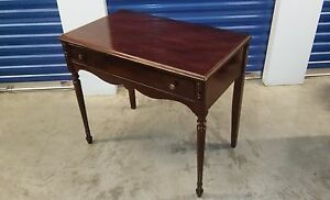 Antique Writing Wood Desk Large Drawer And 2 Brass Knobs Circa 1910 Americana