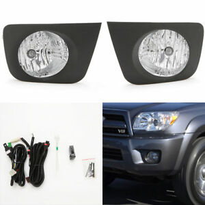 Clear Fog Light W Bezel Switch Wire Bulb For 2006 2009 Toyota 4runner Hilux Surf