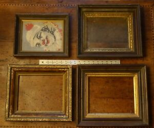 Lot Of Victorian Walnut Deep Well Shadow Box Picture Frames For 8 X 10