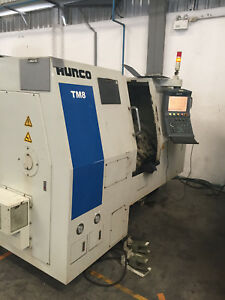 2011 Tm8 Hurco Lathe 10 Atc Cnc 22hp Spindle 8 In Chuck Live Hydrualic Center