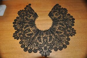 Vintage Black Lace Collar Approx 19 5 Inside Measurement By 8 Long