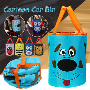 Wastebasket Trash Can Litter Car Auto Headrest Holder Garbage Leak Proof Bin Bag