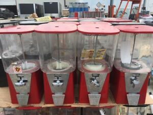 4 Four Red Oak 450 Gumball Candy Toy Nut Bulk Vending Machines