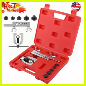 Double Flaring Tool Kit Brake Line Tubing Auto Truck Tool New Us Stock Sk