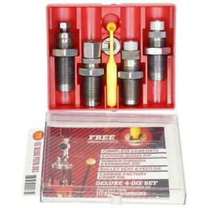 Lee Precision Deluxe Carbide 4 Die Set for 9mm Luger with Shell Holder # 90963