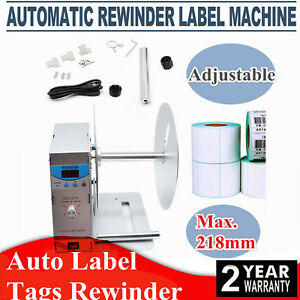 Automatic Label Tags Rewinder Rewinding Machine Workroom Bottle W Speed Great