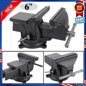 6 Heavy Duty Work Bench Vice Engineer Jaw Swivel Base Workshop Vise Clamp Us Sk