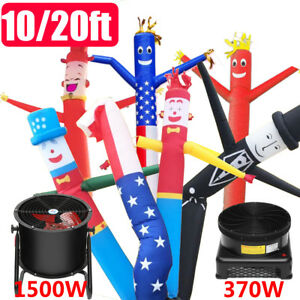 10ft 20ft Inflatable Sky Puppet Dancer Tube Flying Wind Man With Blower Fan