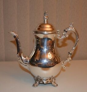 F B Rogers Silver Coffee Tea Pot