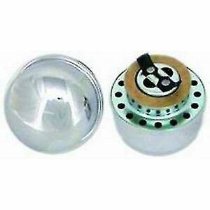 Racing Power Company R4803 2 3 8 Chrome Steel Twist On Oil Filler Breather Cap