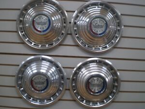 1963 Ford Galaxie 500 Wheelcover Wheel Covers Hubcaps Oem Set 63
