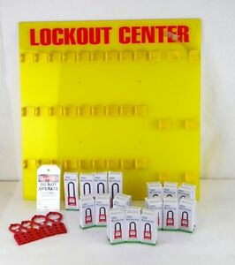 Zing 7116 28 Padlocks Different Keyed Filled Lockout Station