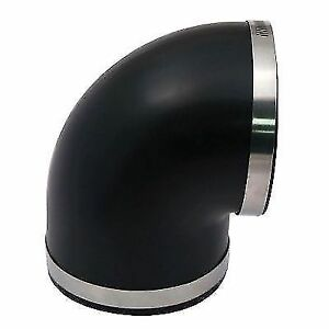 Spectre 9781 Air Intake Tube Coupler 90 Deg Connects 4 In Dia Black