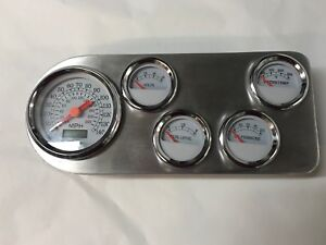 1949 Ford Pickup Truck Aluminum 5 Gauge Dash Insert With Gauges