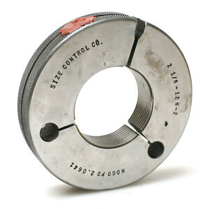 Size Control Co 2 1 8 12 Ns 2 Thread Not go Ring Gauge