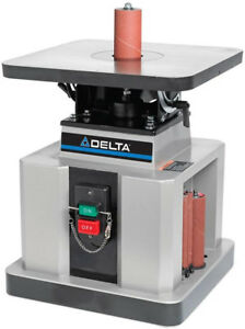 Delta 1 2 Hp Heavy Duty Bench Oscillating Spindle Sander With Tilt Table