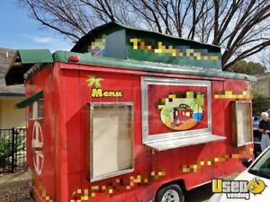 7 X 14 Trolley Style Food Concession Trailer For Sale In Texas
